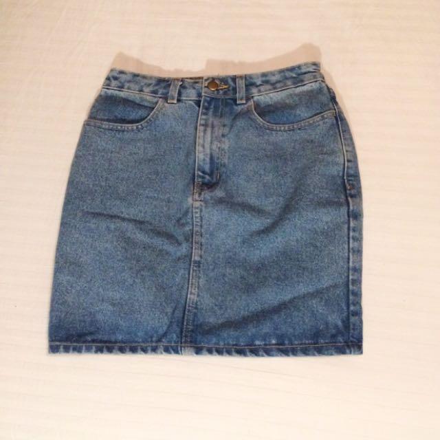 American Apparel Denim Pencil Skirt
