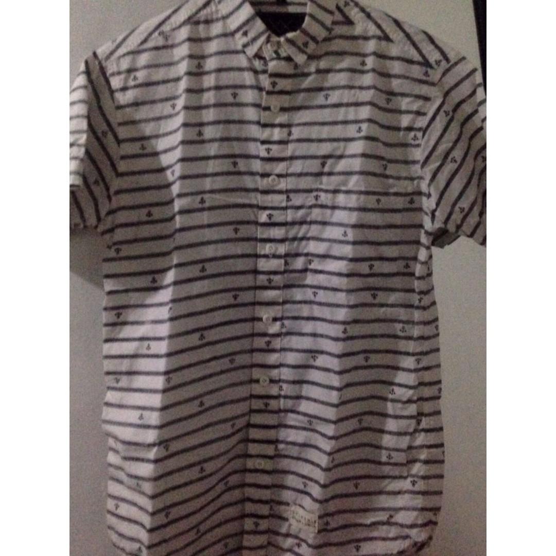Anchor Pattern Short Shirt