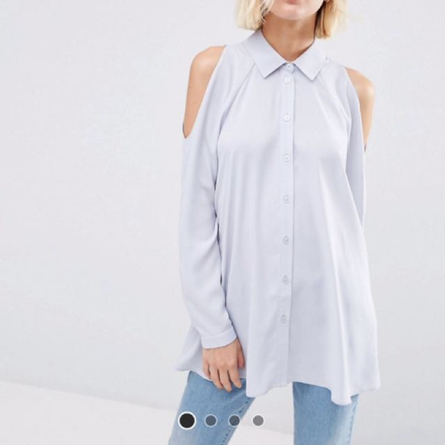 ASOS Cold Shoulder Blouse