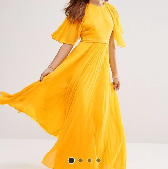 ASOS Pleated Kaftan Maxi Dress