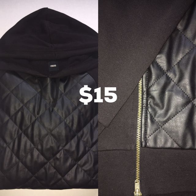 Asos Quilted Leather Hoodie