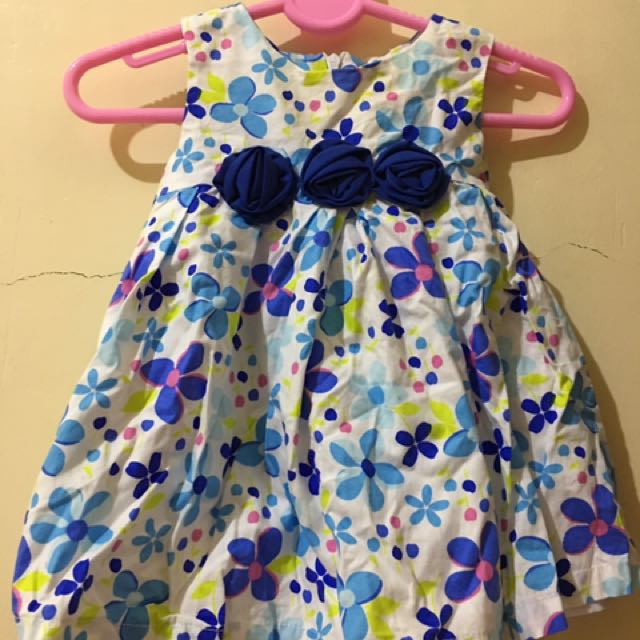 Baby Dress (with Blue Flowers)