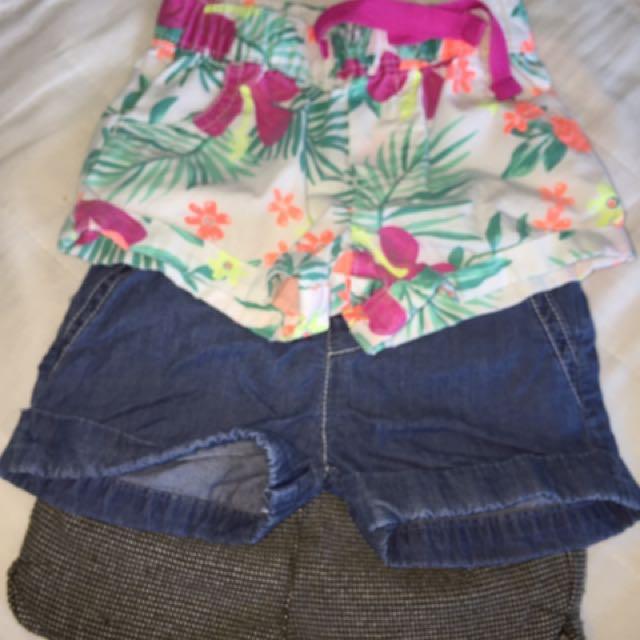 Preloved Bundle Baby Shorts (3-6months)