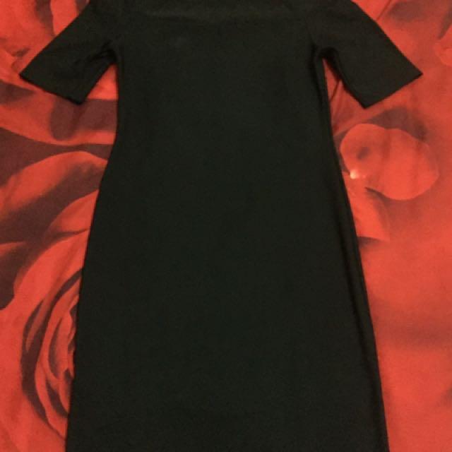 Black Sabrina Dress - Newlook
