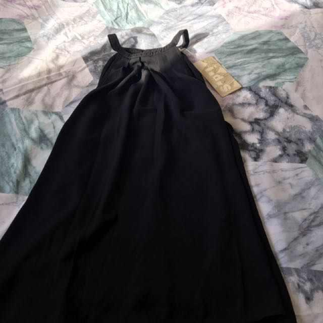 Black Silky Top Size 8