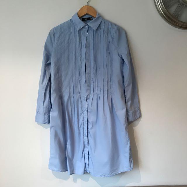 Blue Denim Long Sleeved Top