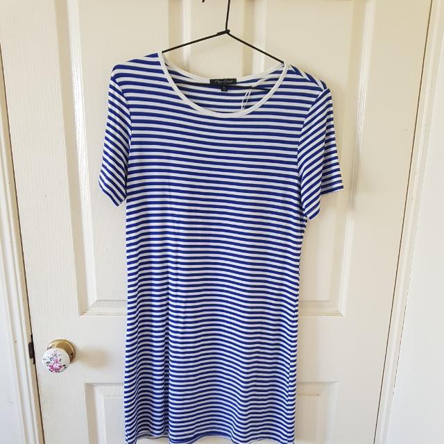 Blue Striped Dress Size 6/XS