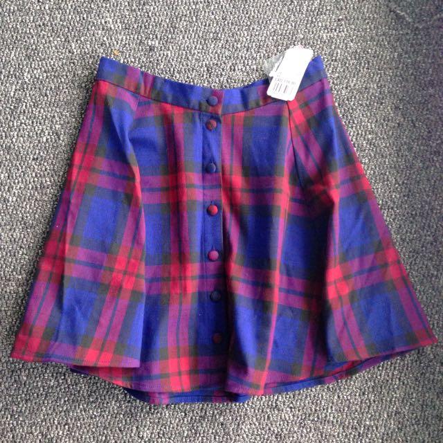 BNWT Plaid Skirt