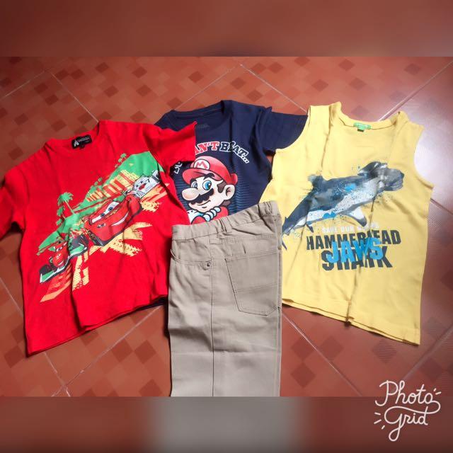 Bossini Sando. Disney Shirt Orig. H&m Pants