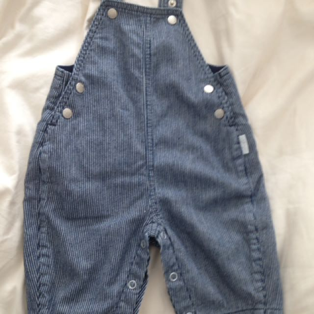 Boys Pin Strip Overalls
