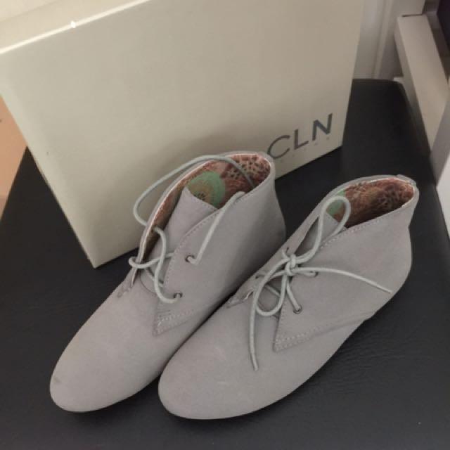 Celine Grey Suede Boots