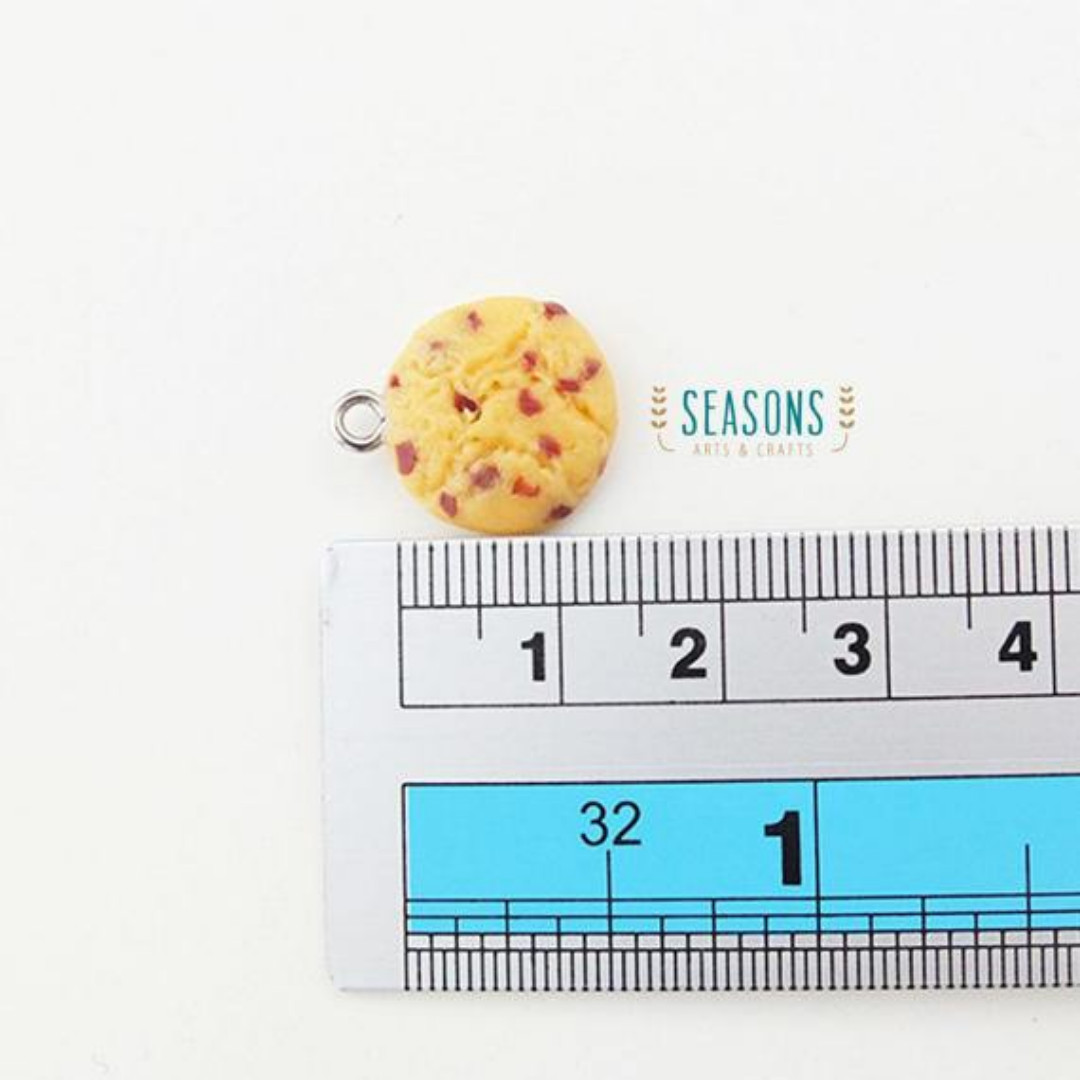 Chocolate Chip Cookies Clay Charm (1Set x 2Pcs) (161)