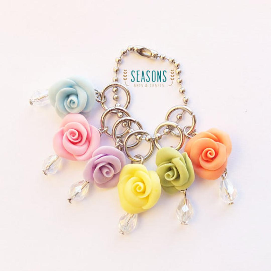 Colorful Rose Stitch Markers (1Set x 6Pcs) (163)