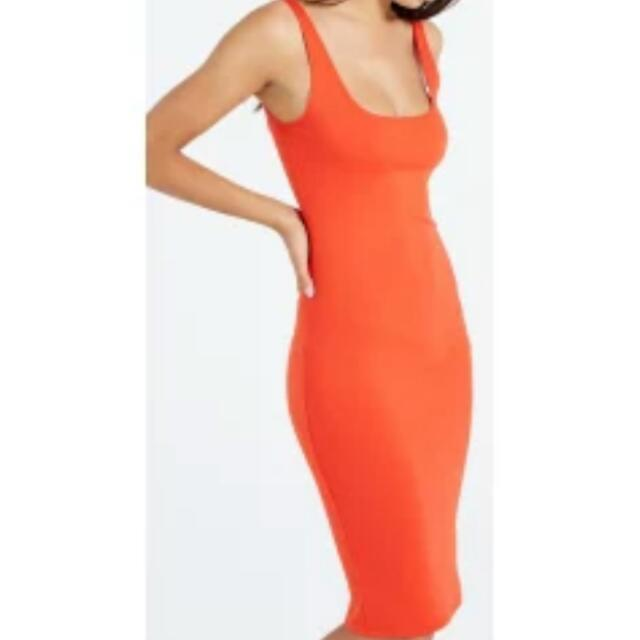 "Cotton On Red/Orange ""Kimi"" Scoop Midi Dress"