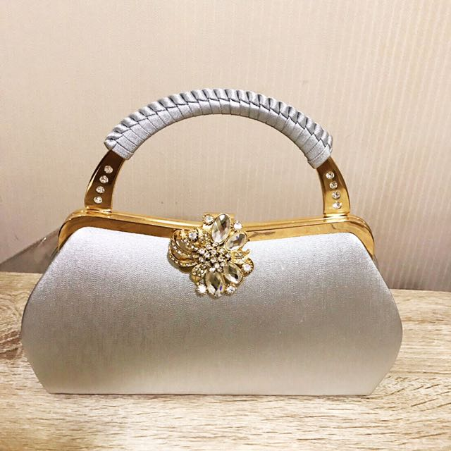 Crystal Clutch Hand Bag