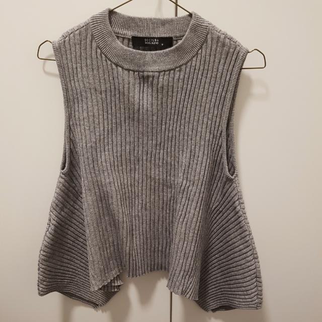Decjuba Wool Blend Grey Top