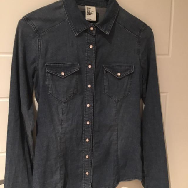 Denim Shirt By h&m