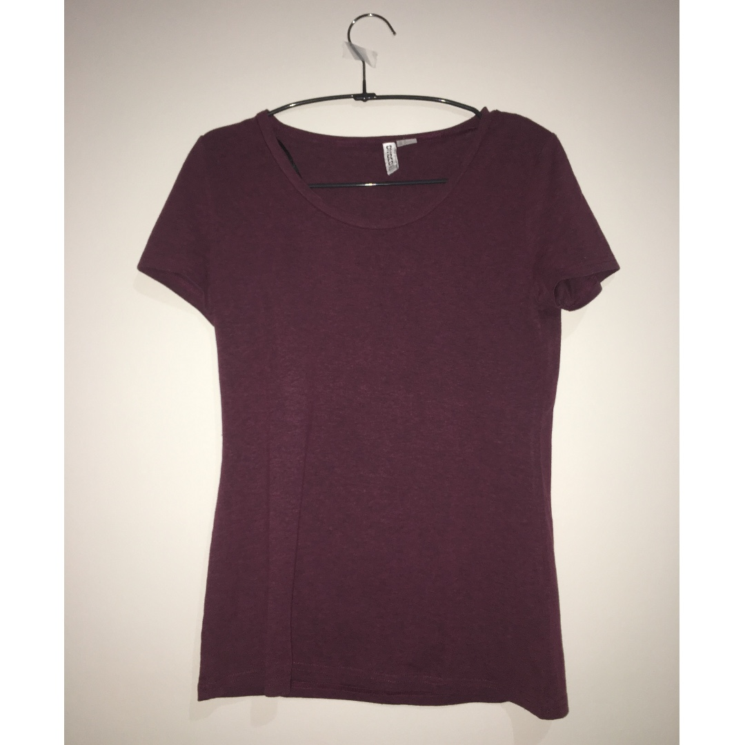 DIVIDED by H&M Maroon T-Shirt
