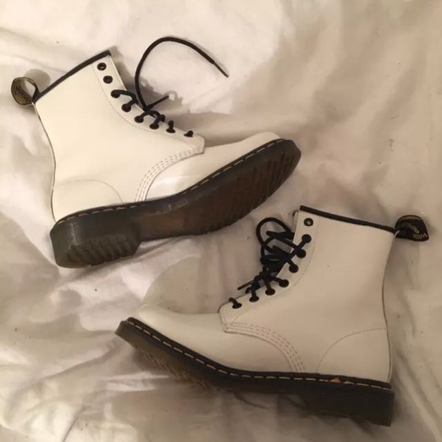 Dr Martens 1460 White Patent