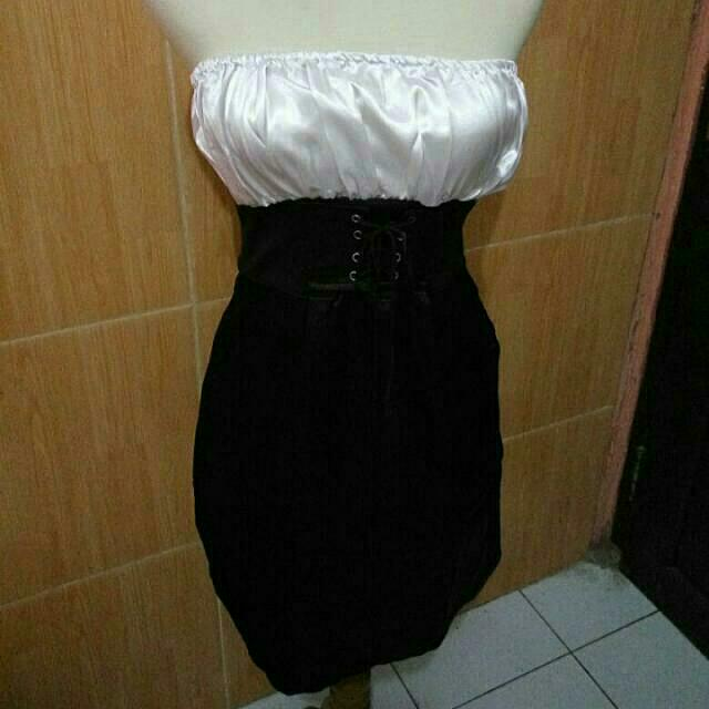 #TISGRATIS Dress Bangkok White N Black