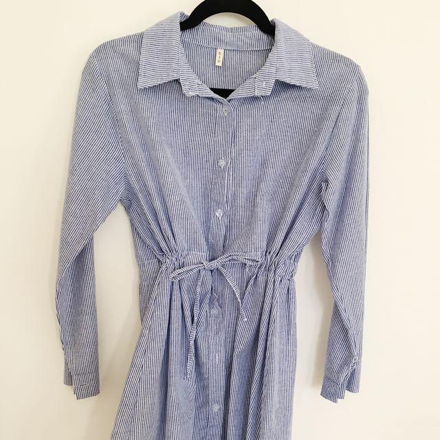 Dress Impor Stripes