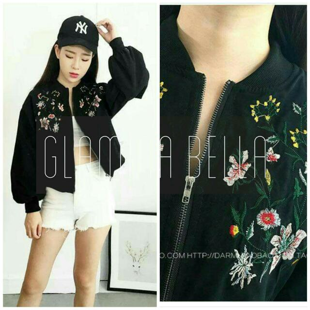 Embroidered Bomber Jacket ♥