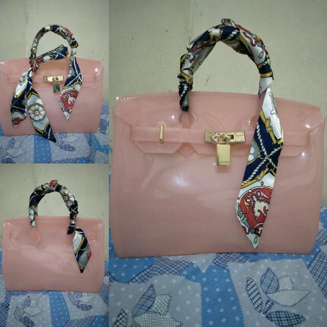 (NEW PRICE) Fashion Women Beachkin Jelly Bag(Pink)