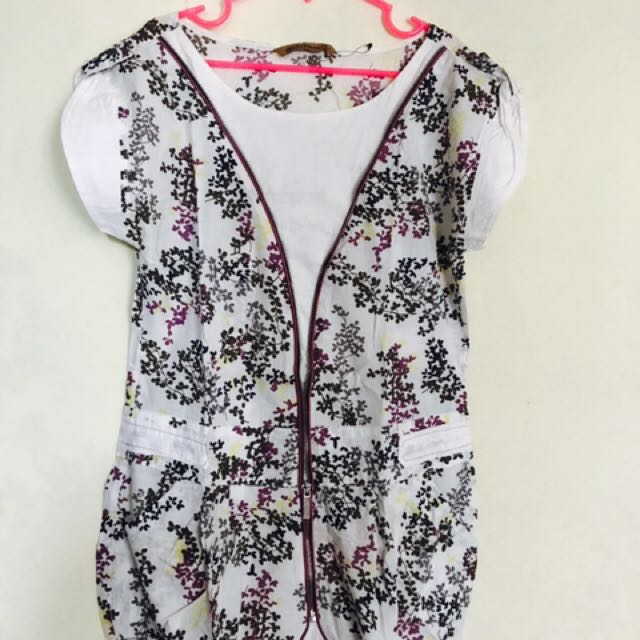 Floral Oversize Top