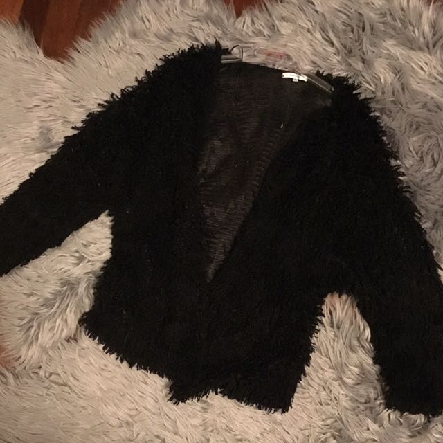 Fluffy Black Jacket