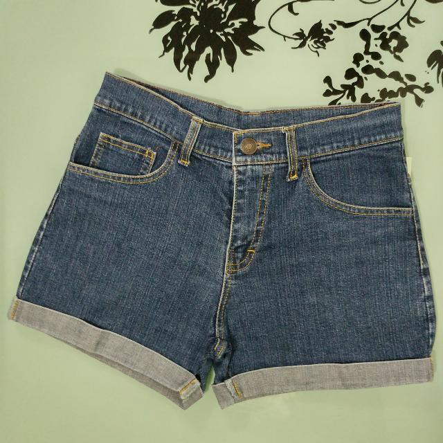 Folded maong shorts ❤