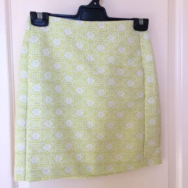 FORCAST Lime-green Mini Skirt