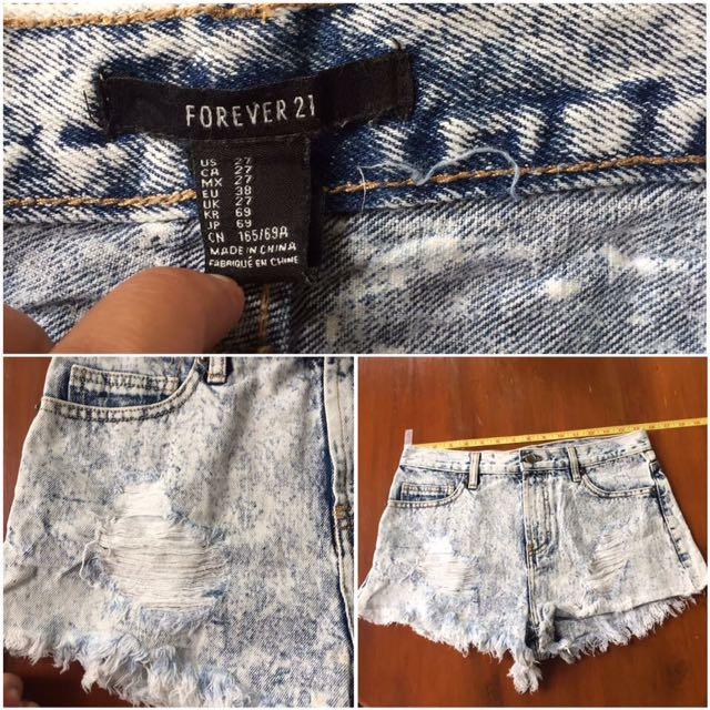 Forever21 Highwaist Jeans Shorts