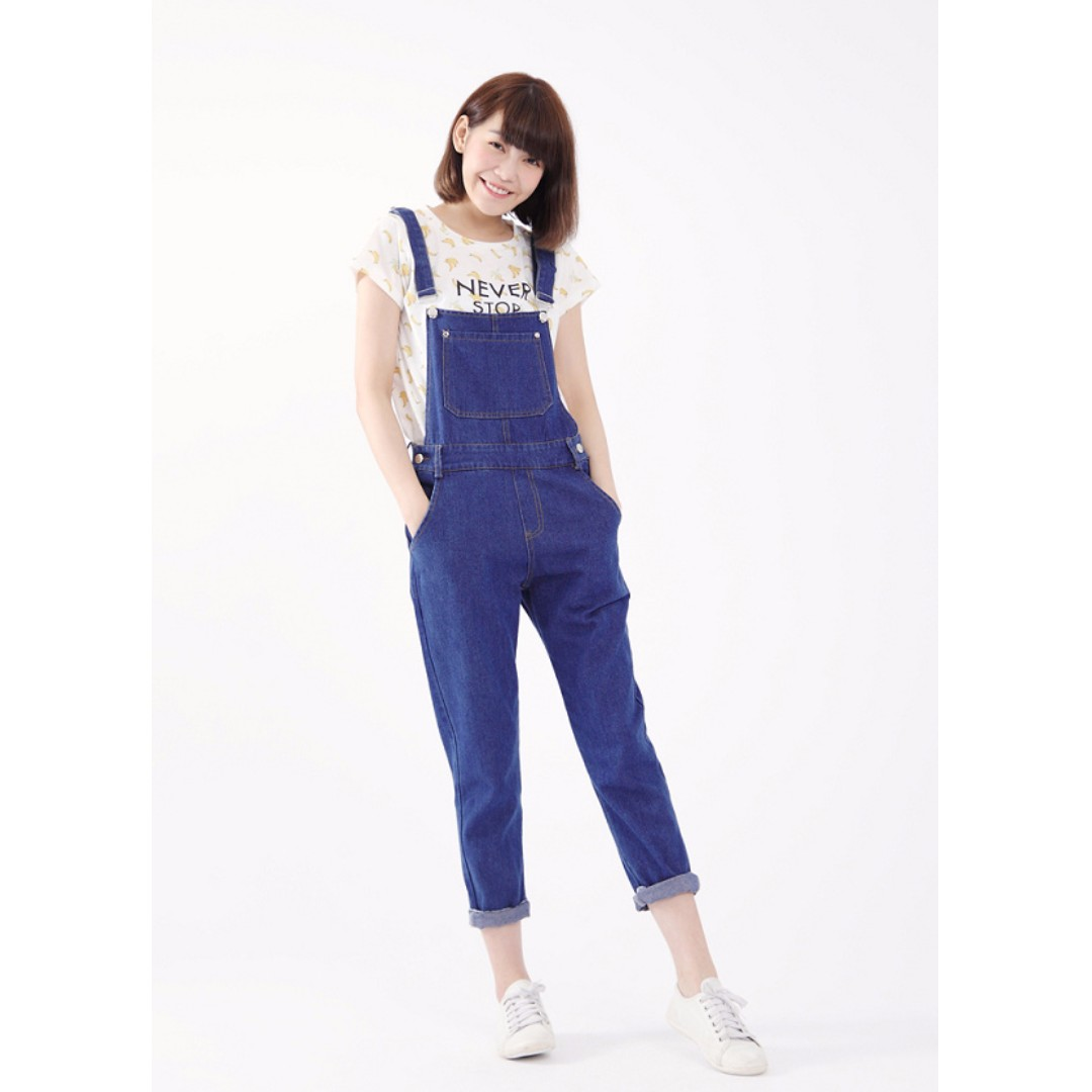 FREE SHIPPING *100% Imported from Taiwan* Denim Overalls with Pockets