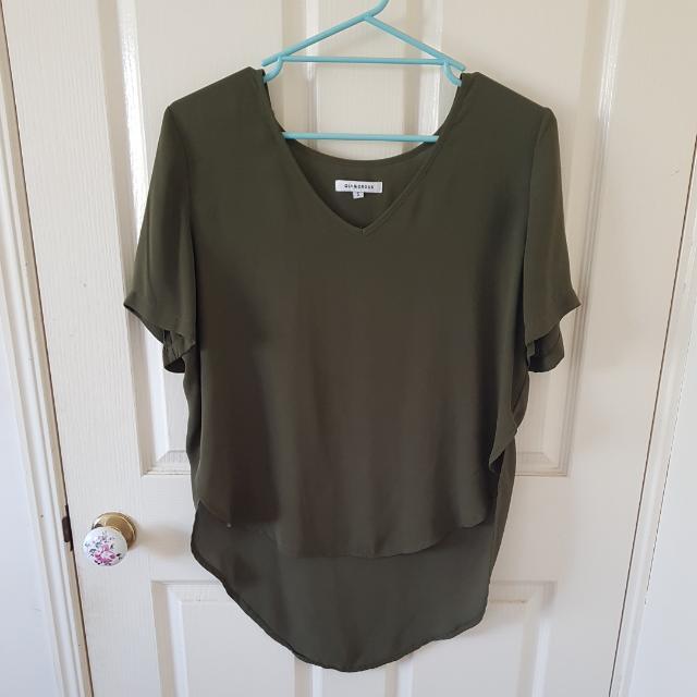 Glamorous Khaki Top Size 8/S