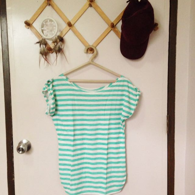 Green Striped Top