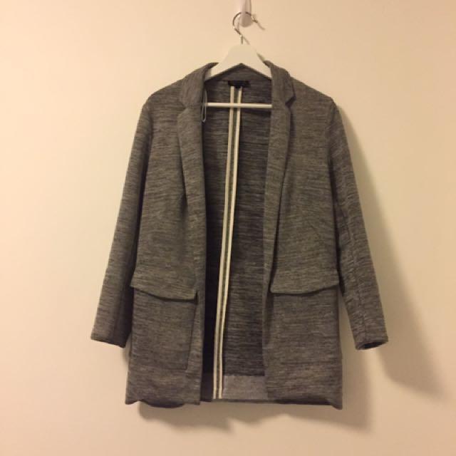 Grey Blazer From Topshop (EU 36 UK 8)