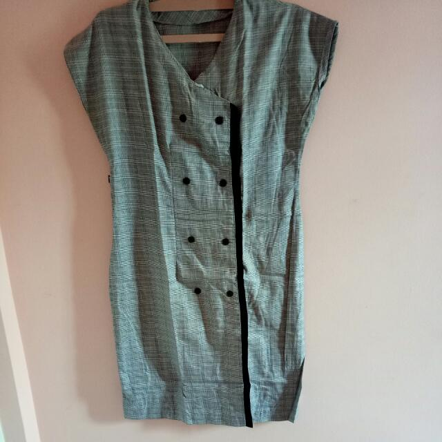 Grey Square Dress