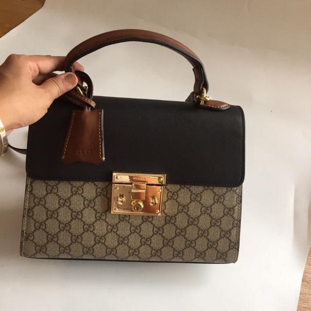 Gucci Padlock Top Handle GG Bag