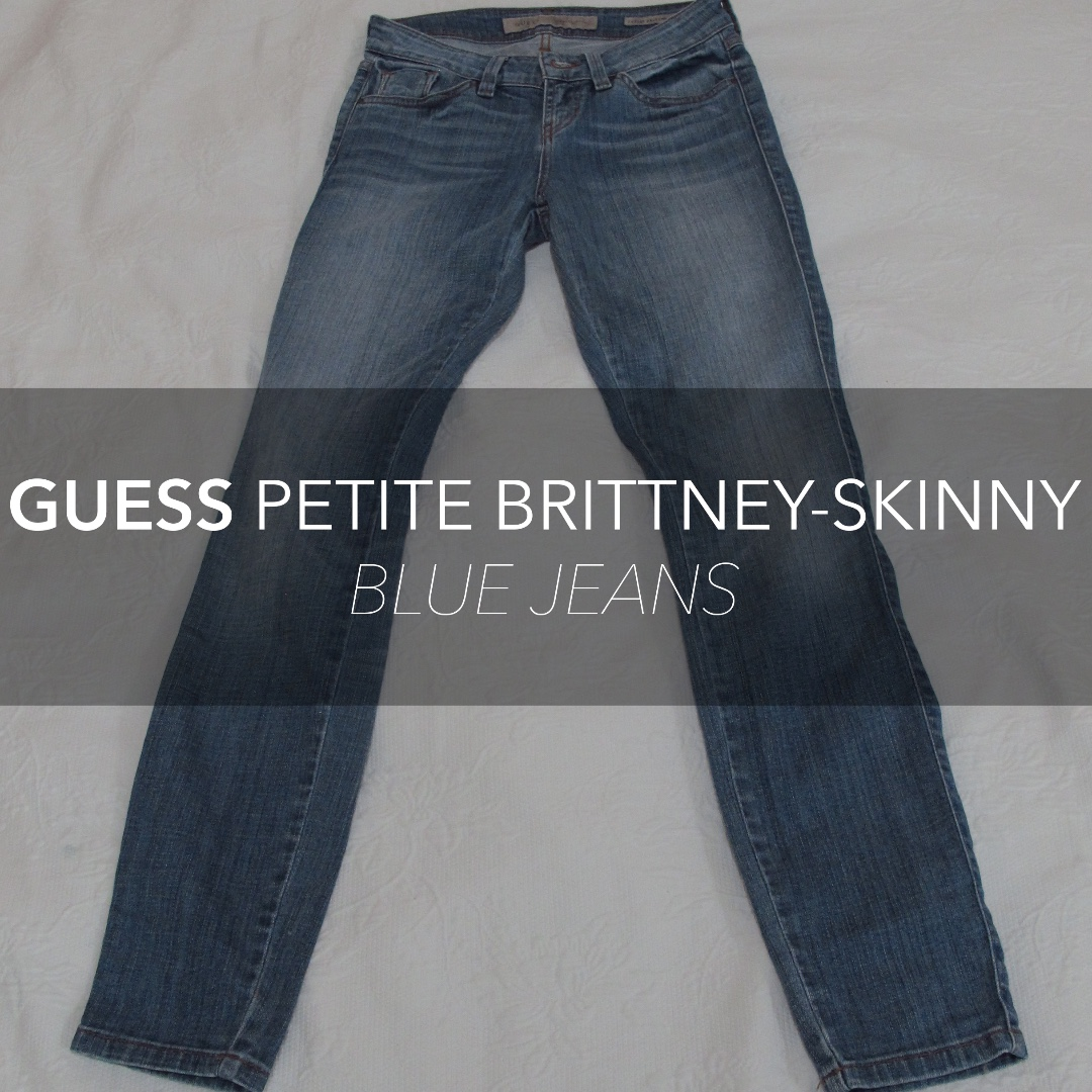 AUTHENTIC GUESS Petite Brittney-Skinny Blue Jeans