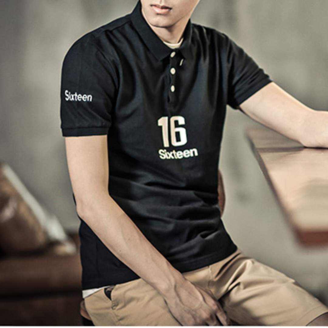 #LagiBest70 Short Sleeved . Collar Top . Designer Wear