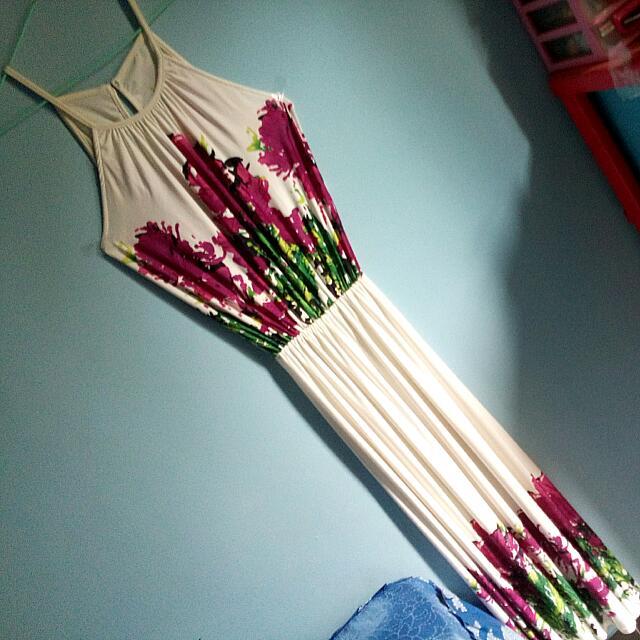 Halter Long dress white