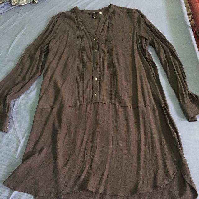 H&M gray Dress Plus Size