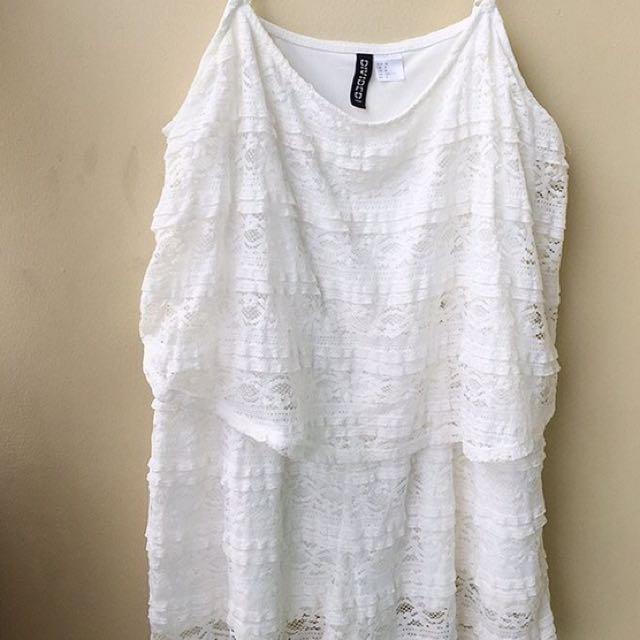H&M White lace Romper