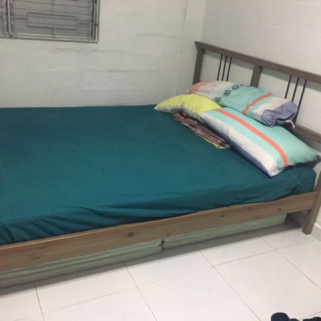 Ikea Rykene Sultan Double Bed For Sale Bulletin Board On Carousell