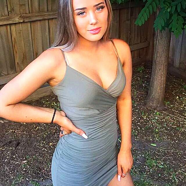 Khaki Tight Kookai Dress
