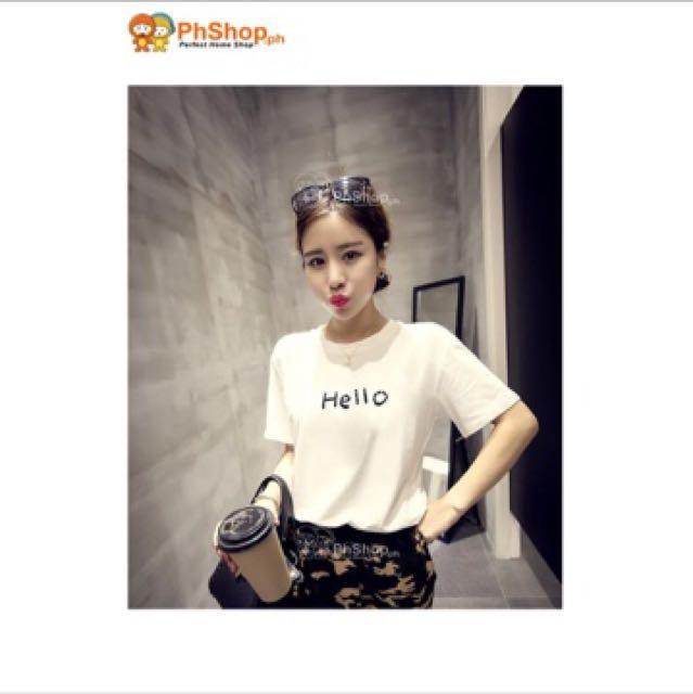 Korean Hello Printed Shirt