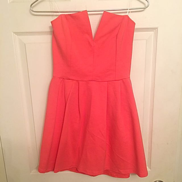 Lulu's Coral Pink Dress