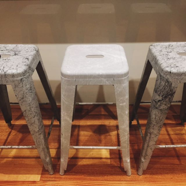 Marble Effect Bar Stool