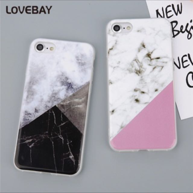 Marble IPhone Case For iPhone 7 7 Plus 6 6s Plus 5 5s SE Case Fashion Smooth IMD Geometric Stitching Marble Soft TPU Phone Case
