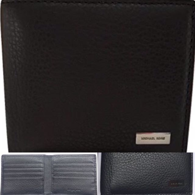 Michael Kors Stephn Men's Leather Wallet Bedford. BLACK. 100% Authentic & New